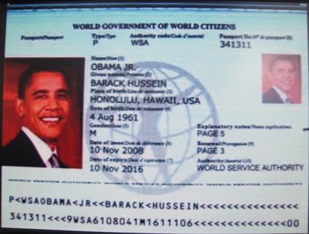 Passaporto Obama