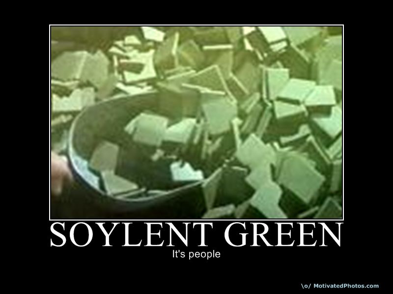 Aborted fetus ingredients in vaccines medications make up for Soylent green
