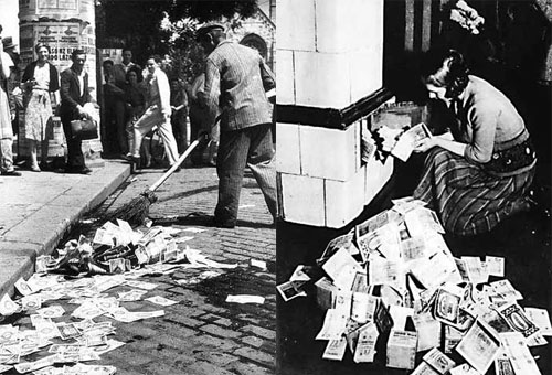 a history of the period of hyperinflation in the weimar republic from the year 1918 to the year 1923