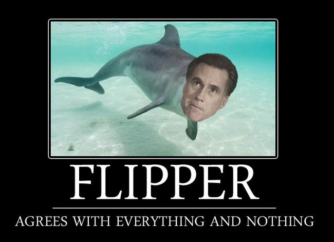 Mitt Romney as Flipper