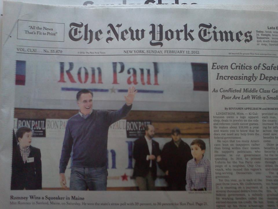 ... NY Times Romney %22wins%22 w:o Washington County, Maine 1,800 votes
