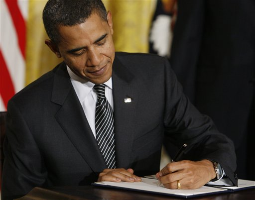 Was Obama forced to sign the Martial Law Bill?
