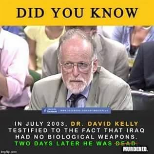 WMD dr david kelly Iraq dead