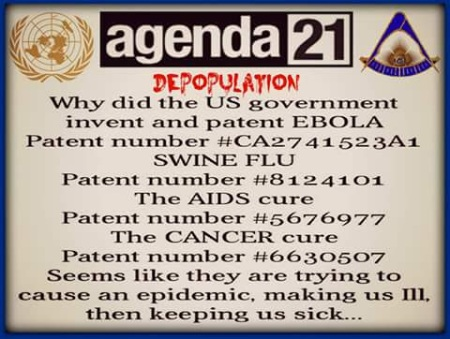 agenda 21 depopulation ebola swine flu aids cancer