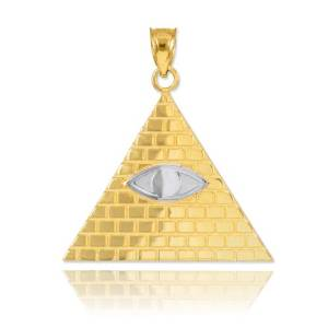 nwo illuminati gold pyramid jewelry pic