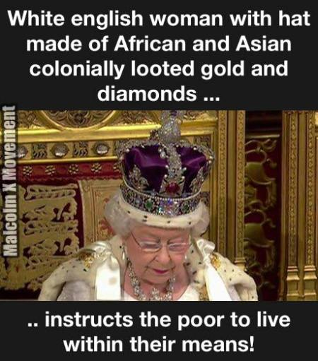 queen spoils of war crown from asia and africa gold diamonds