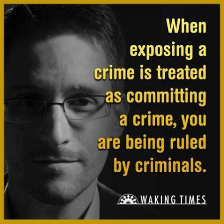 Edward Snowden ruled by criminals