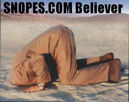 snopes believer