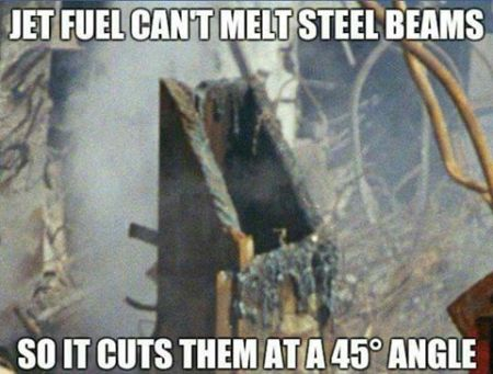 wtc sttel beam cut at 45 degree angle nano thermite