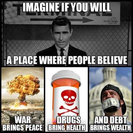 imagine war drugs debt
