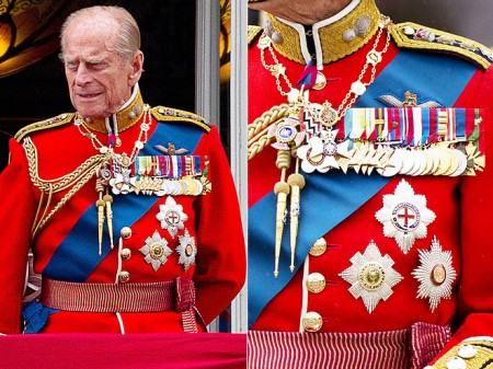 prince philip medals uniform