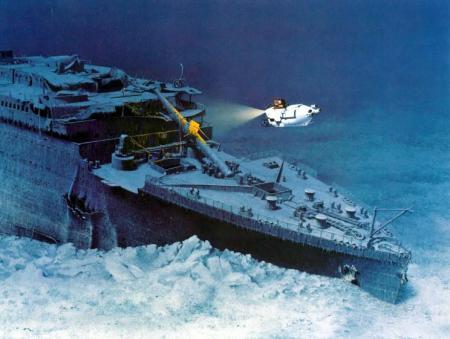 the discovery of the titanic Robert-Ballard-Titanic