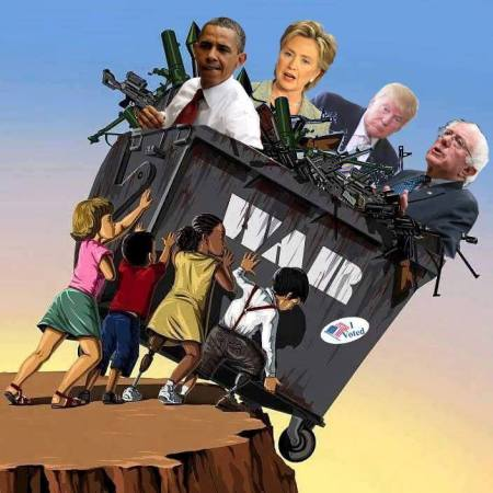 war dumpster off cliff vote
