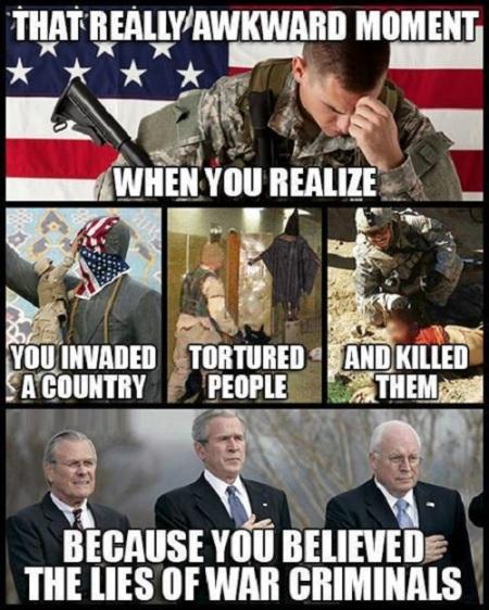 wars invade torture kill lies